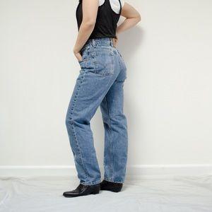 Vintage Levis Tapered 550 Light Wash Jeans